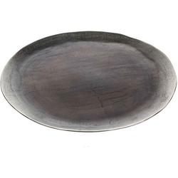 Casa Vivante gonda decoratief bord rond zilver maat in cm: 2,5 x 43
