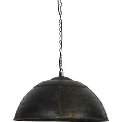 Hanglamp Marcha zwart/bruin zink diameter 60 cm