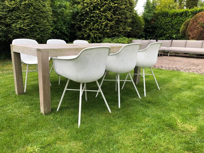 tuin stoelen wit