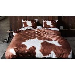 Dekbedovertrek Essenza Katoen Satijn Cow - bruin 200x200/220cm