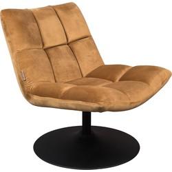 Dutchbone fauteuil Bar velvet bruin 78 x 66 x 81