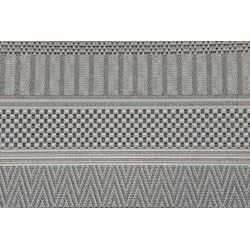 Garden Impressions Buitenkleed Stripes licht grijs 200x290 cm