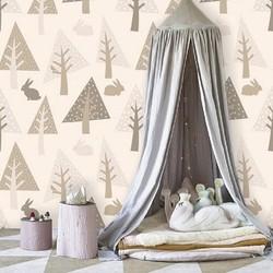Vliesbehang XL Kinderen bomen 300x250 cm