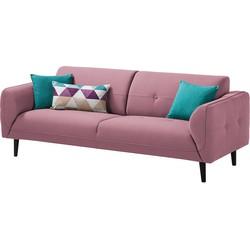 Sofa Cala (3-Sitzer) Webstoff - Schwarz - Stoff Osta Flieder