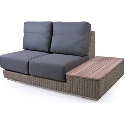 4 Seasons Outdoor Kingston modular 2 zits links met teak eiland - pure