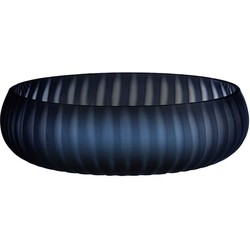 Casa Vivante silva schaal glas donkerblauw maat: 8 x 28cm