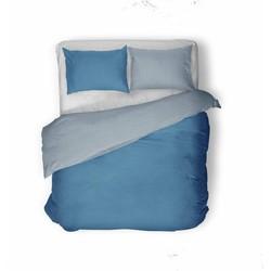 Nightsrest Dekbedovertrek Flanel TWO TONES Turquoise - Petrol Maat: 200x200/220cm