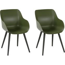 Hartman Sophie Organic Studio Tuinstoel - Set Van 2 - Moss Green NU Met Gratis Zitkussens Twv. € 25,00