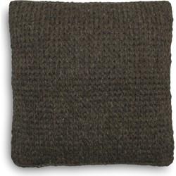 Sierkussen Gijs 50x50 cm dark grey - 80% Wol 20% Katoen