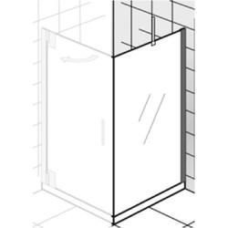 Ben Futura Zijwand 100x200cm Chroom / Helder Glas