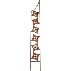 Home affaire Gartenstecker »Rusty Metal« in Rostoptik, Materialmix, 190 cm hoch