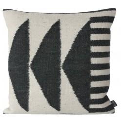 Ferm Living Kelim Cushion - Black Triangles kussen
