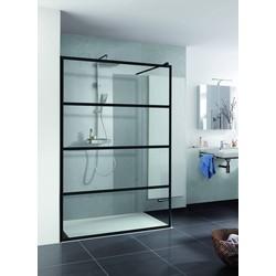 HSK Walk In Pro Inloopdouche Loft 2 100x200 cm Helder Glas mat zwart