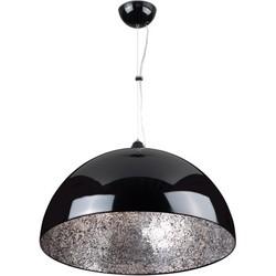 Linea Verdace Hanglamp Cupula Mirror Zilver Ø60 Cm - Zwart