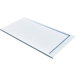 Acquabella Duo Douchevloer Slate 100x100x3 cm Blanco