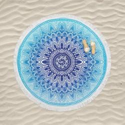 Nightlife - Ronde handdoek - Ibiza - Strandlaken - Diameter 150 cm
