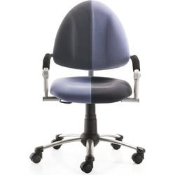 24Designs Kinderbureaustoel Skool Blauw - Antraciet