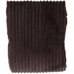 Woondeken flanel rib bruin