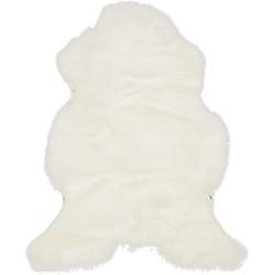 Europees schapenvacht - ±110x60-70 cm - naturel wit