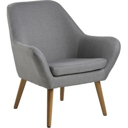 Adele fauteuil lichtgrijs - Robin Design