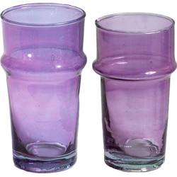 Traditioneel glas roze M, L, XL, XXL - (M) medium