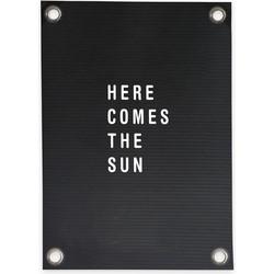 Tuinposter Letterbord Here comes the Sun (70x100cm)