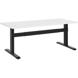 Bureau elektrisch hoogte verstelbaar in wit / zwart 160 x 70 cm. UPLIFT