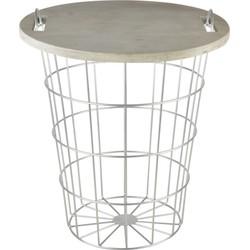 Esschert Design Tafel mand hout/metaal