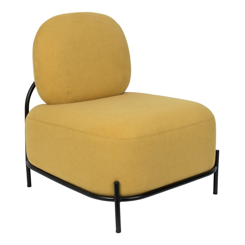 Wants&Needs fauteuil Polly geel 77 x 71,5 x 66 -