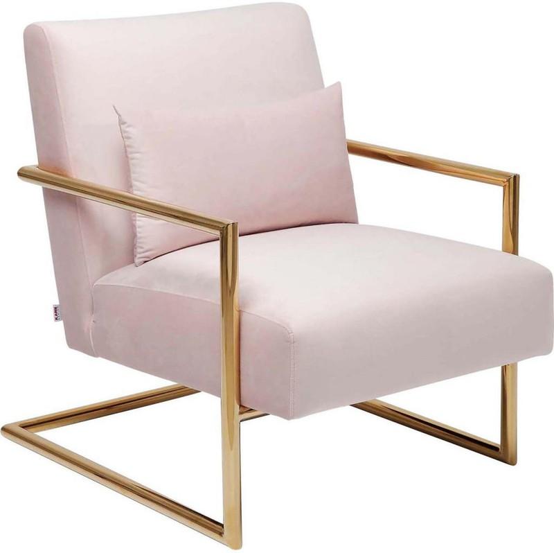 Kare Design - Fauteuil Living Vegas - Roze Fluweel -