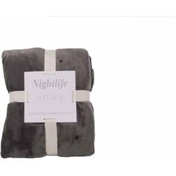 Nightlife - Plaid - Fleece - Lycra / elastaan - Grijs