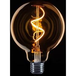 LED lichtbron Globe 95mm spiraal 4W goud