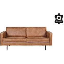 Rodeo bank 2,5-zits cognac - BePureHome - 85 x 190 x 86 cm