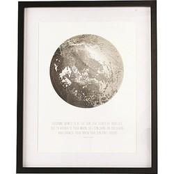 House Doctor Afbeelding in Lijst 43 x 53 cm - Moon