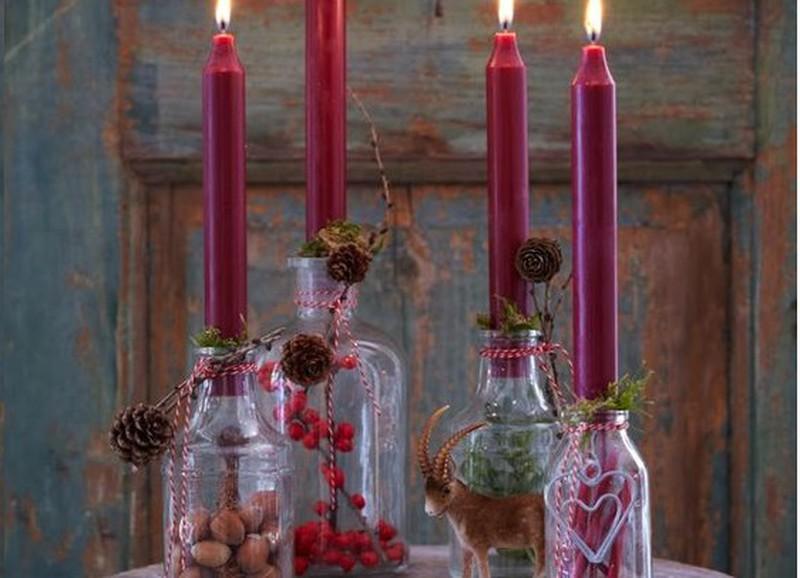 DIY: Advents Kerzenhalter