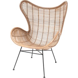 HK living fauteuil rotan naturel 110 x 70 x 83