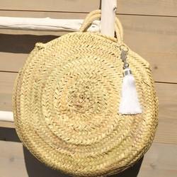 Myroundie - Roundie Bag - Ronde Ibiza Boho Tas 51 - Hand gevlochten Palmblad Tas  – Maat M