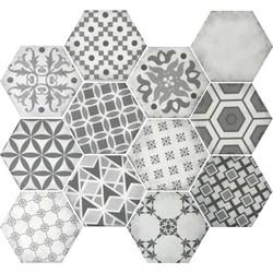 Mozaiek Terre d'Azur Epoca 28x30x- cm Grijs Decor 1ST
