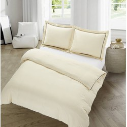 The Luxury Home Collection Dijon Creme Maat: 2-persoons (200 x 220 cm + 2 kussenslopen)