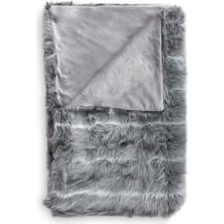 Plaid Cloud 140x220 cm grey - 100% Acryl