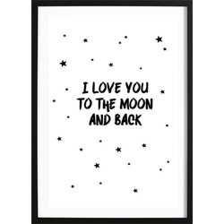 Love You To The Moon Poster (21x29,7cm)
