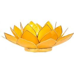 Fine Asianliving Sfeerlicht open lotusbloem Capiz Schelp geel