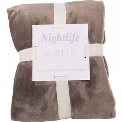 Nightlife - Plaid - Fleece - Lycra / elastaan - Bruin