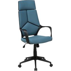 Bureaustoel zwart/blauw DELIGHT