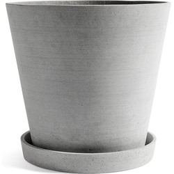 Hay - Blumentopf mit Untersetzer XXXL, grau