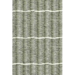 Woodnotes paper yarn Line grey-stone sewn edges en fringes - 240 x 170 cm
