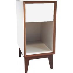 PIX nachtkastje klein met wit frame en wit voorkant
