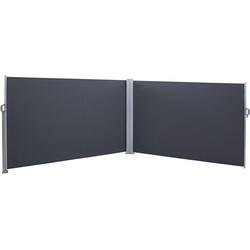 SORARA Wind -en Privacyscherm  Donkergrijs  160 x 600 cm  Oprolbaar & Bevestigbaar aan Muur / Vloer