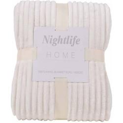 Nightlife - Plaid - Rib - Lycra / elastaan - Crème