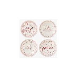 ED Ellen DeGeneres for Royal Doulton Christmas Accent Bowls, Set of 4, White/Red, 14cm